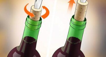 6 Τρόποι για να ανοίξεις ένα μπουκάλι χωρίς τιρμπουσόν!