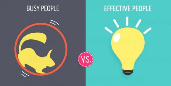 busy people vs effective