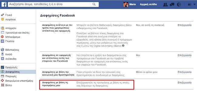 facebook diafimiseis ads