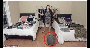Ηθοποιός έβαλε 130 πράγματα σε μία μικρή τσάντα αποσκευών!
