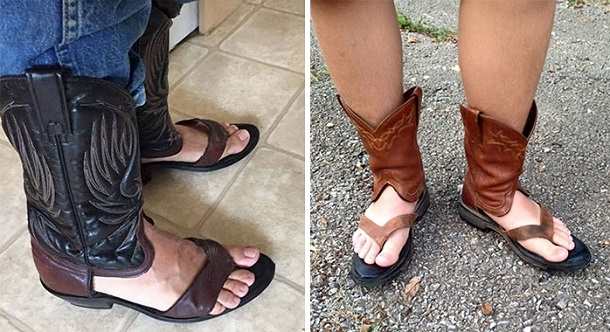 kaoumpoikes mpotes sandalia
