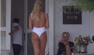 Η Κατερίνα Καινούργιου προκαλεί φορώντας λευκό ολόσωμο μαγιό!