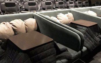 Σινεμά στην Ιαπωνία έχει θερμαινόμενα τραπέζια και κουβέρτες!