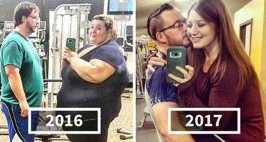 Ζευγάρι έχασε 225 κιλά και τράβηξε ξανά τις παλιές φωτογραφίες!