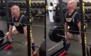 89χρονος κάνει άρσεις θανάτου με 187 κιλά βάρος!